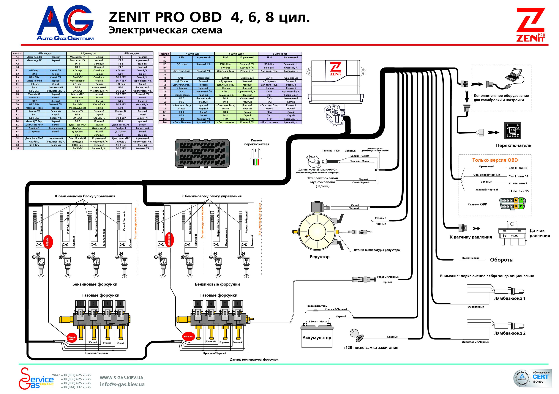 Схема блок управления гбо 4 поколения